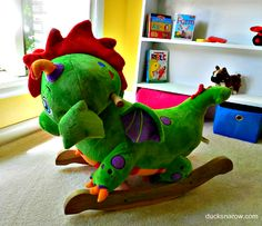 Poof The Dragon plush toy rocking chair for babies and toddlers! #giftideas #ad