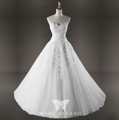 Art no. BG1010 (Crossed chest pleated embroidered Luxury Bridal Wedding gown)