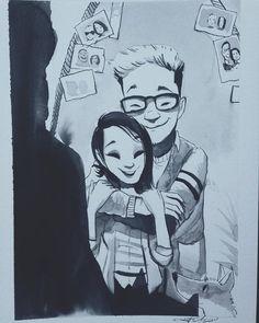 #ink #inktober #inktober2016 #drawing #KurtChangArt #art #illustration #lighting #love #dating #couples #relationship