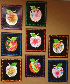 Arts visuels à la maternelle Halloween Crafts For Toddlers, Halloween Crafts For Kids, Toddler Crafts, Diy Crafts For Kids, Art For Kids, Preschool Apple Theme, Apple Activities, Fall Preschool, Preschool Crafts