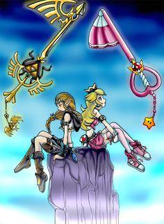 OH GOD YES!!!!! Three AMAZING games put together, kingdom hearts, legend of zelda, and mario.... Princess peach and Zelda, gotta Love Zelda's <3