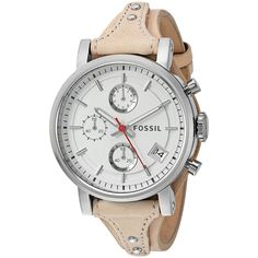 Fossil Women's ES4229 'Original Boyfriend' Chronograph Brown Watch