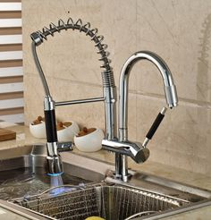 84.48$  Watch here - http://aliyz4.worldwells.pw/go.php?t=32432277393 - Luxury LED Color Changing Chrome Brass Kitchen Faucet Vanity Sink Mixer Tap Deck Mounted Dual Sprayer 84.48$