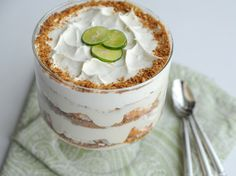 Recipe for a creamy and crunchy Key Lime Trifle.