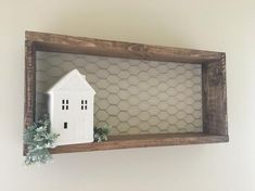 Such a cute Rustic Wall decor shelf. The chicken wire background adds the perfect farmhouse touch to the rustic frame. This would go great in any room in your home. The frame pictured is stained in Special Walnut. We offer other color choices as well ( see pictures for color choices). Choose the Rustic Bathroom Shelves, Nursery Shelves, Rustic Shelves, Wood Shelf, Wire Shelves, Rustic Frames, Rustic Walls, Rustic Farmhouse Decor, Rustic Wall Decor