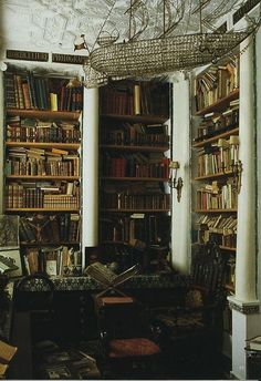 Home library of Laure Welfling and her husband Gee Pee