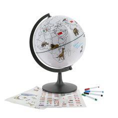 Globe drapeaux et animaux du monde - Un matériel pour aborder concrètement  la géographie - 45 € 5e4c40442d5