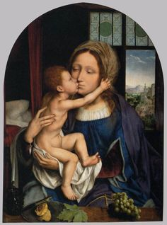Quentin Metsys, aka Quinten Matsys or Massys (1466-1530) — Virgin and Child, 1529 : The Louvre Museum, Paris. France (900×1214)
