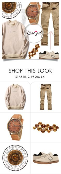 """Rosegal Men's"" by salihovic-nihad on Polyvore featuring Sagebrook Home, New Balance, men's fashion and menswear"