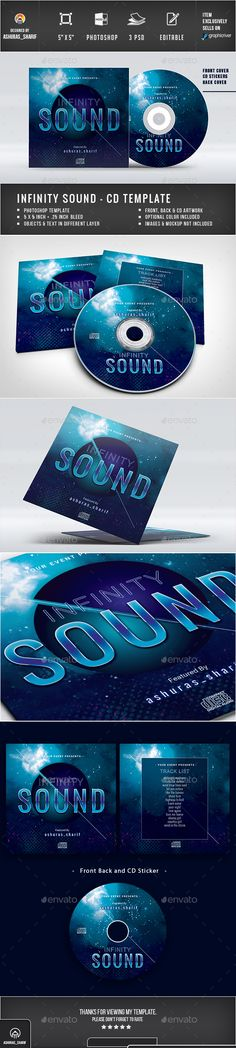 Infinity #CD #Cover - CD & DVD #Artwork Print Templates Download here: https://graphicriver.net/item/infinity-cd-cover/20386497?ref=alena994