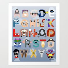 I'm on a bit of an Alphabet kick right now - more ideas going on than time available to put them together. Originally I was thinking about a Toy Story a. P is for Pixar Alphabet Disney Magic, Walt Disney, Disney Love, Disney Art, Disney Pixar, Disney Style, Film Pixar, Pixar Characters, Pixar Movies