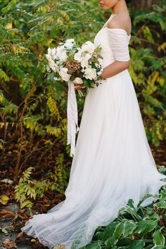 Neutral fall wedding