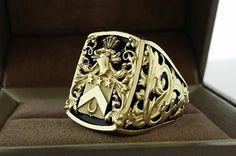 Custom Made Mens Ring Crest Ring