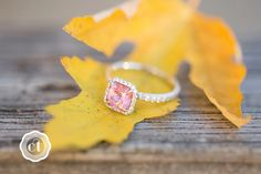 my engagement ring :) pink spinel, flanders cut with diamond halo, in 18k white gold