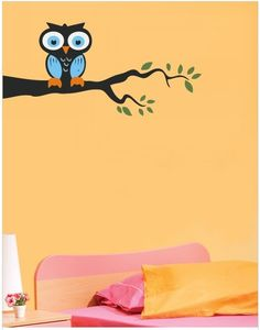 An owl on a tree branch! For all those insomniac design and interior enthusiasts! :)    Check out more interesting wall-stickers on gloob.in     Avail discounts and freebies on facebook.com/iamgloob