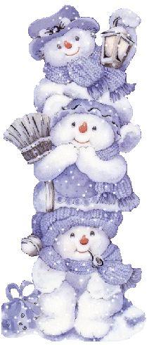 Navidad/Postales/Muñeco de nieve