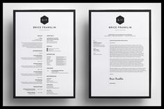 Resume/CV - Brice by bilmaw creative on Creative Market