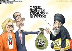 Trump Is Too Dangerous?   Political Cartoon   A.F. Branco