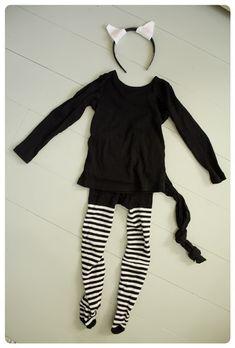 easy to make, cat costume for children / Tunnelmaa: Helppo kissa-asu