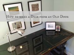 How to turn an old door into a desk- the domestic lady.
