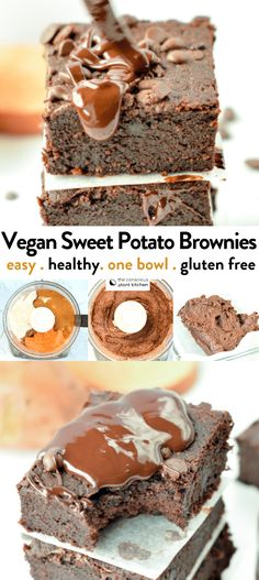 the BEST VEGAN SWEET POTATO BROWNIES easy, healthy fudgy recipe with less 10 ingredients #sweetpotatobrownies #veganbrownies #vegn #easy #sweetpotato #healthybrownies #healthy #brownies #glutenfree #cleaneatingrecipes #veganrecipes #vegandesserts #refinedsugarfree #oatflour #almondflour #glutenfreebrownies #healthydesserts #chocolate #fudgy #gooey Sweet Potato Brownies Vegan, Vegan Brownie, Brownie Recipes, Healthy Brownies, Brownies Keto, Vegan Dessert Recipes, Gluten Free Desserts, Healthy Desserts, Baking Recipes