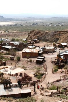 Camp at Calico Ghost Town in Yermo, California.