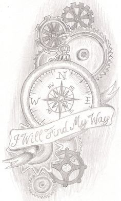steam punk compass by jkucinic.deviantart.com I think I may have found my next tattoo but change just a couple things around and out to make it more of somewhat my own. been looking to found something to go off of and give me an idea.