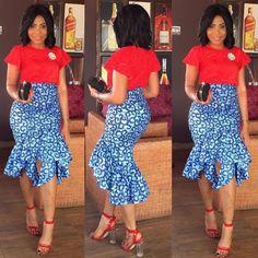 African print skirt  Jupe en pagne