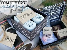 Something Old, Something New, Something Borrowed, Something Blue wedding gift collection - bridal shower gifts for brides, grooms, couples