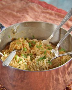 Ramen Noodle Upgrade - Martha Stewart Recipes (Just add chunky peanut butter, soy sauce and chili sauce for quick pad thai). Fast, easy, inexpensive, and yummy!