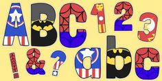 * NEW * Funky Superhero Themed Display Lettering Pack