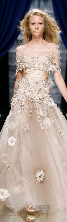 Zuhair Murad ~ Couture Sophisticated Romance Gown, Nude http://www.atelier-fereti.com/product-categorie/handbags/