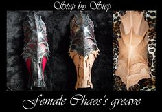 Chaos female armor greave by ~Deakath on deviantART