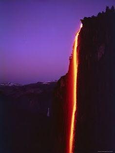 Yosemite Firefall-a fond childhood memory