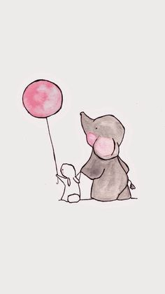 Up up and Away — archival print, Baby nursery print, Landscape Orientation Up and Far Baby Kindergarten Datei drucken von Ohhellodear Baby Prints, Nursery Prints, Nursery Art, Animal Drawings, Cute Drawings, Baby Animals, Cute Animals, Images Kawaii, Art Mignon