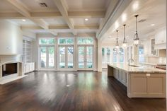 Design your Houston custom home with Frankel Building Group. Come experience our enjoyable and no-stress home building process, where nothing is too custom. Dream Home Design, My Dream Home, House Design, Future House, My House, Architecture Design, Barbie Dream House, Home Living Room, Living Room Kitchen