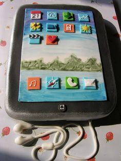 #KatieSheaDesign ♡❤ ❥ iPad cake!