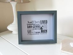 Personalized Wedding Gift Framed Print Personalised by NJRDesigns £20