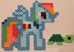 My Little Pony Perler Bead Art!