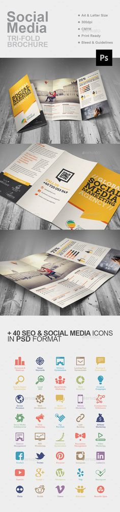social media brochure template - 1000 images about work communications and design ideas