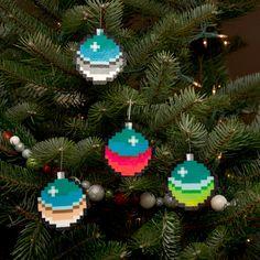 8-Bit Pixel Art Christmas Baubles (Set of 4) on Etsy, £12.35