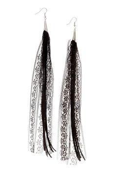 Leather and Lace Earrings