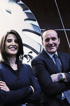 Agent Coulson and Maria Hill