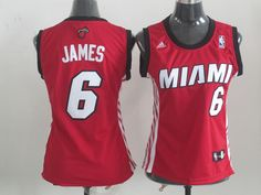 Miami Heat 6#James Red Women jersey