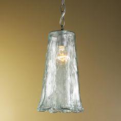 Glass pendant light pendant lights and glass pendants on pinterest - Recycled glass pendant lights ...