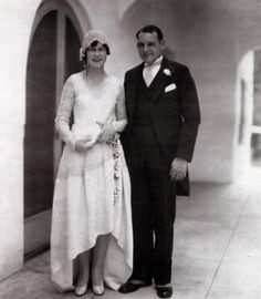 1928 bride and groom.