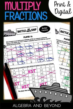 Practicing multiplying fractions is so helpful for students to retain these skills. Playing battleship is such a fun way to review! Perfect for in the classroom or distance learning. Math Teacher, Teaching Math, Multiplying Fractions, Math About Me, Math Resources, Battleship, Algebra, Curriculum, Distance