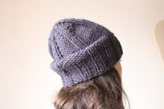 Wool slouchy beanie. Womens winter hat. slouchy knit by MyTinyTree, $29.88