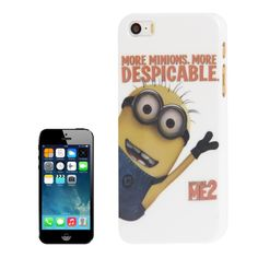 Minions Pattern Plastic Case for iPhone 5 & 5S