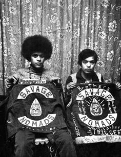 """Savage Nomads"" street-gang members (NYC, 1970's). @Ashley Badgett savaaaage"
